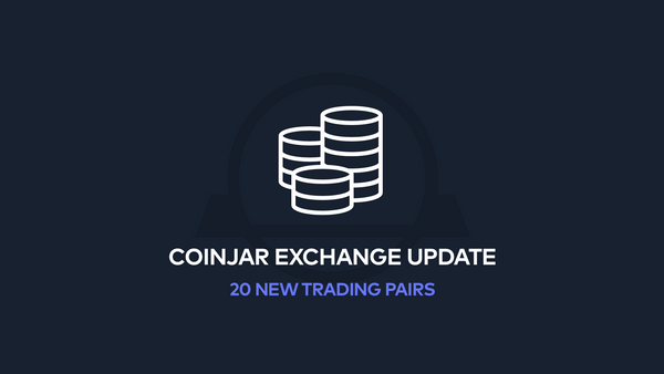 All-new Trading Pairs on CoinJar Exchange!
